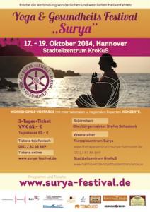 Plakat Surya Yoga Festival 2014
